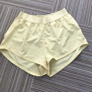 Outdoor Voices Light Yellow Relay Shorts
